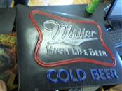 MILLER BREWING COMPANY Sign COLD BEER LIGHT SIGN